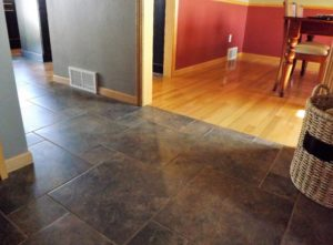 tile hardwood floor